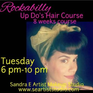 ROCKABILLY HAIR COURSE @ Sandra E. Artist Makeup Studio | Pomona | CA | US